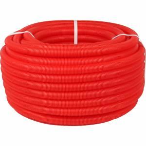 Труба гофрированная ПНД, наружным диаметром 20 мм красная (для труб до Ø18мм)