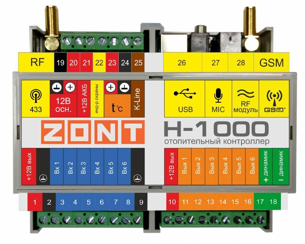 Zont h-1000 контроллер для систем отопления