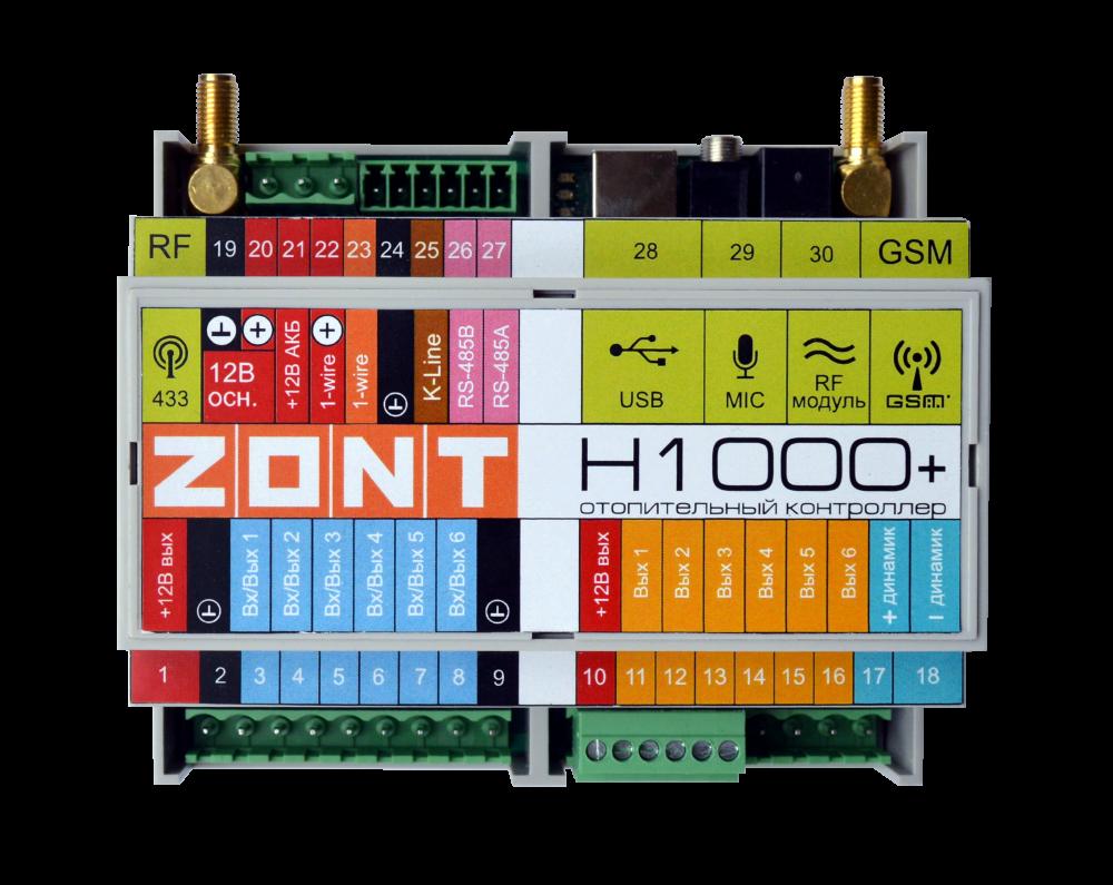 Универсальный контроллер zont h1000+
