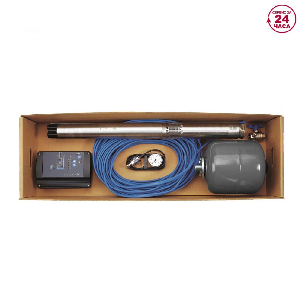 Комплект для поддержания постоянного давления с насосом sqe 3-105 с кабелем 80 м