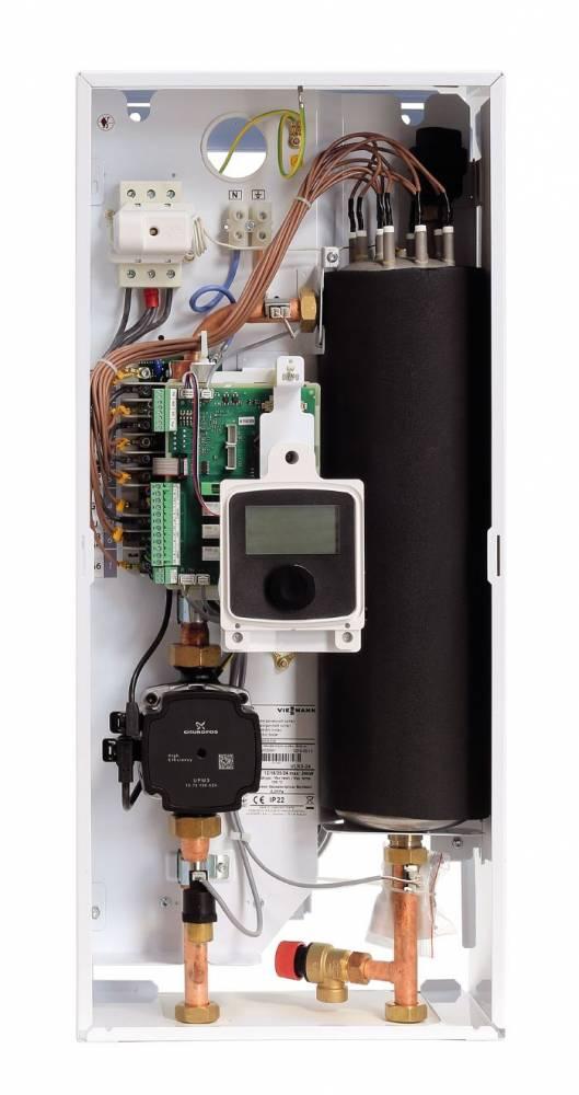 Котёл электрический vitotron 100, vmn3 08 с погодозависимой автоматикой, 0,4-8 квт, 230-400в.
