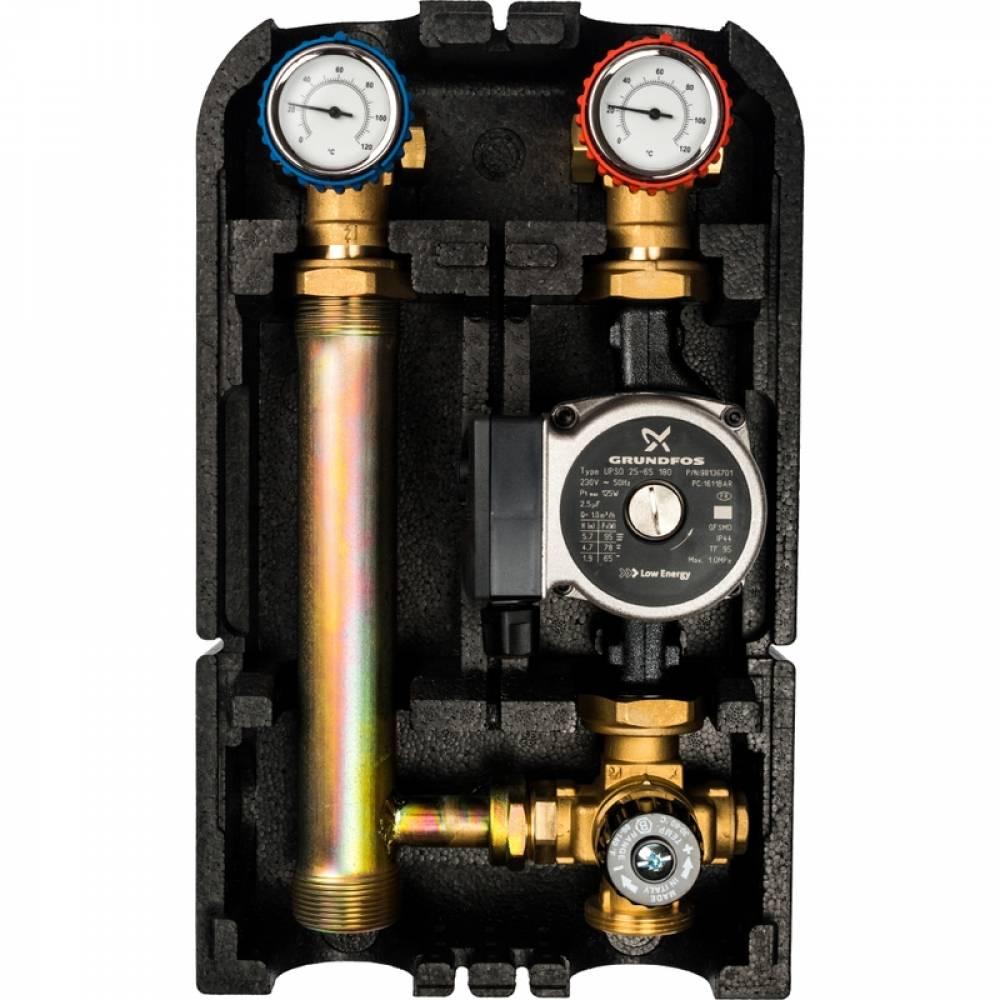 Насосная группас термостатическим смесительным клапаном1