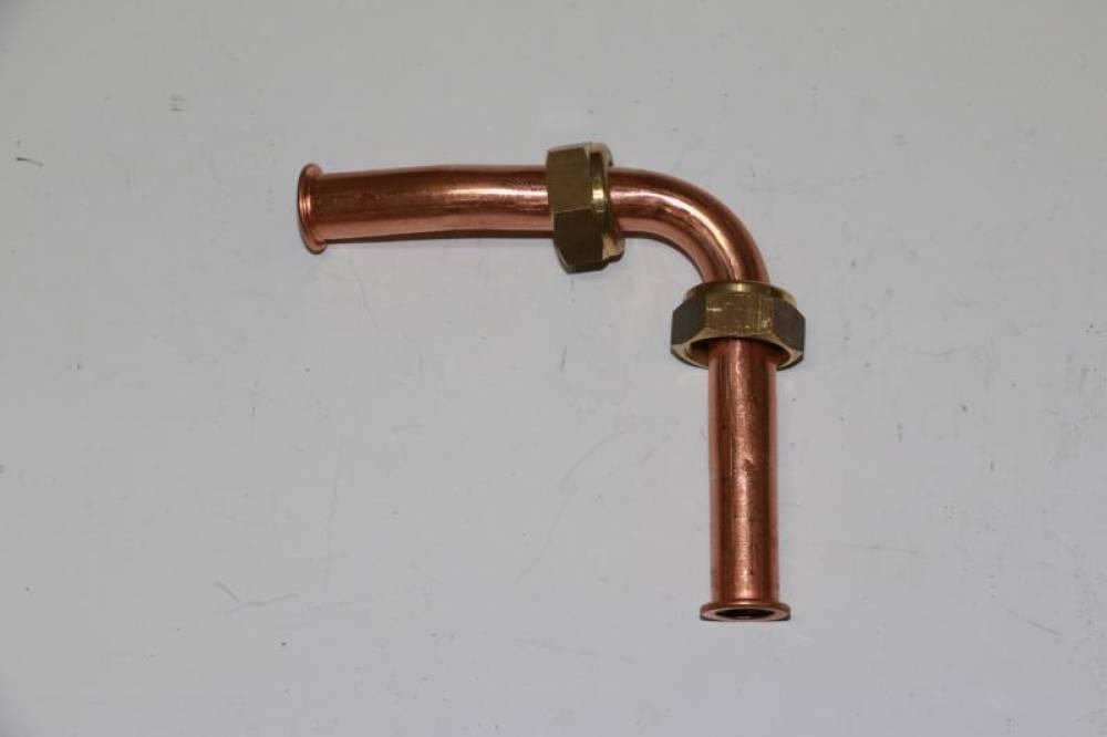 Патрубок выхода воды ГВС из вторичного теплообменника Baxi