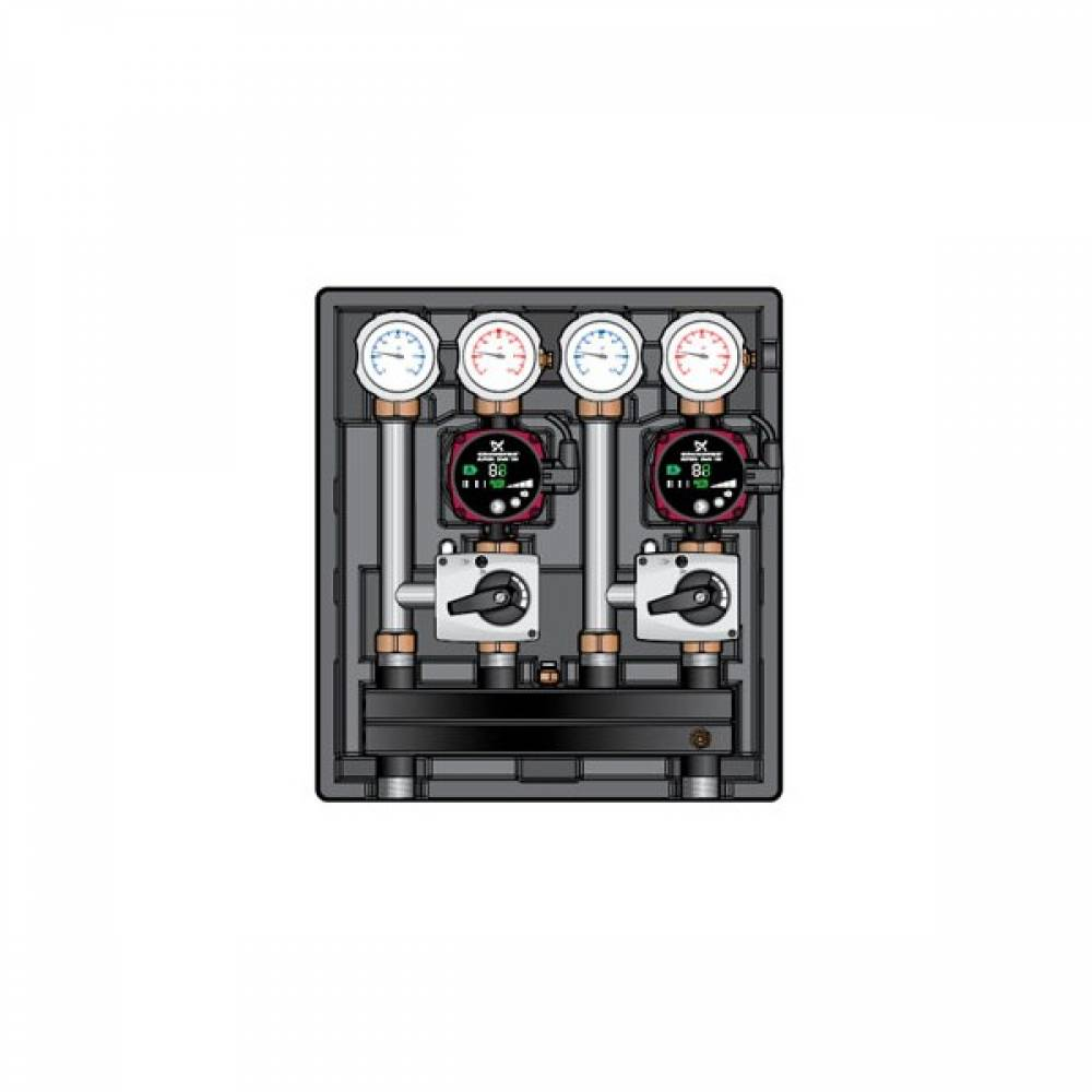 Насосно-смесительный модуль Kombimix 2 MKST_Wilo Yonos Para 15/6 RKC