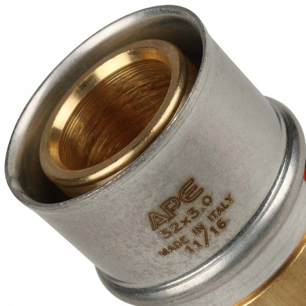 Муфта соединительная равнопроходная 32х32 для металлопластиковых труб прессовой