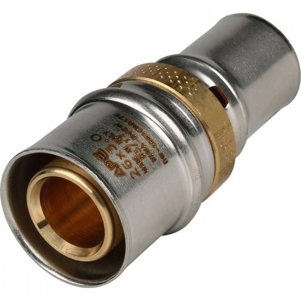 Муфта соединительная переходная 26х20 для металлопластиковых труб прессовой