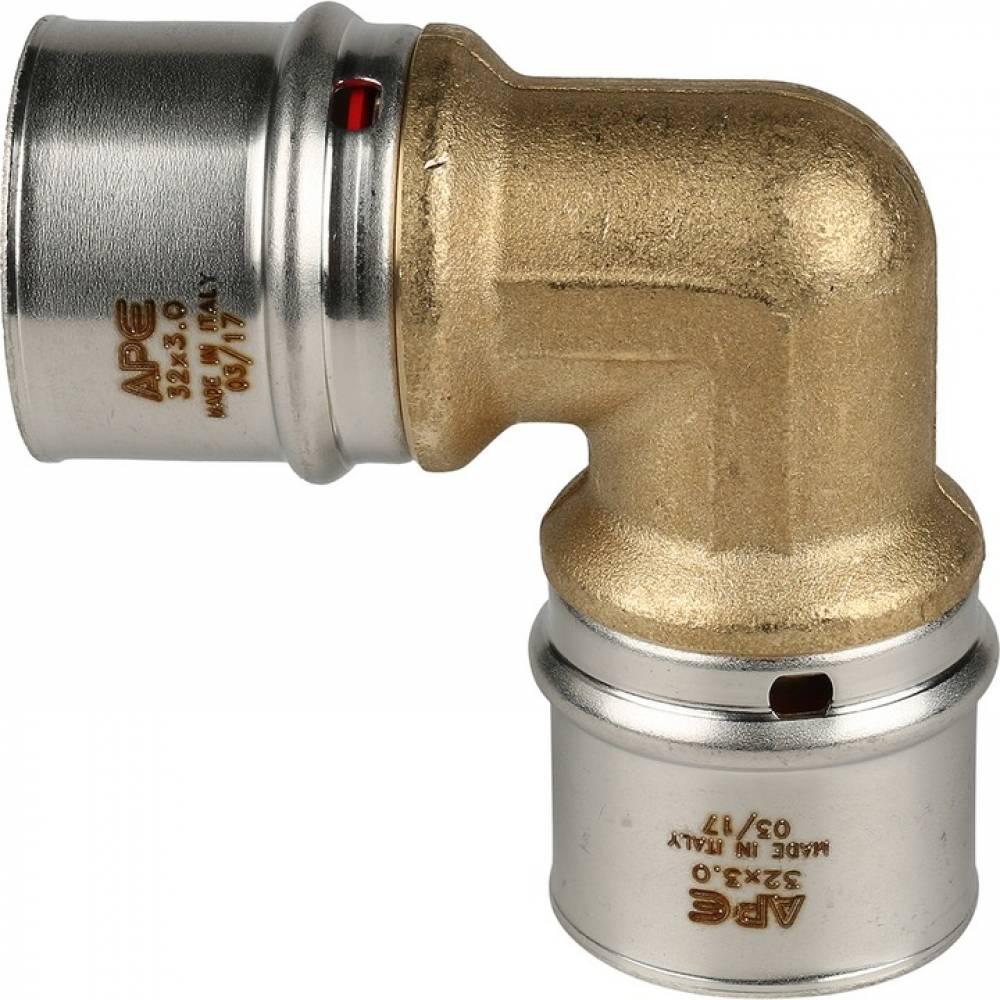 Угольник  90° 32х32 для металлопластиковых труб прессовой
