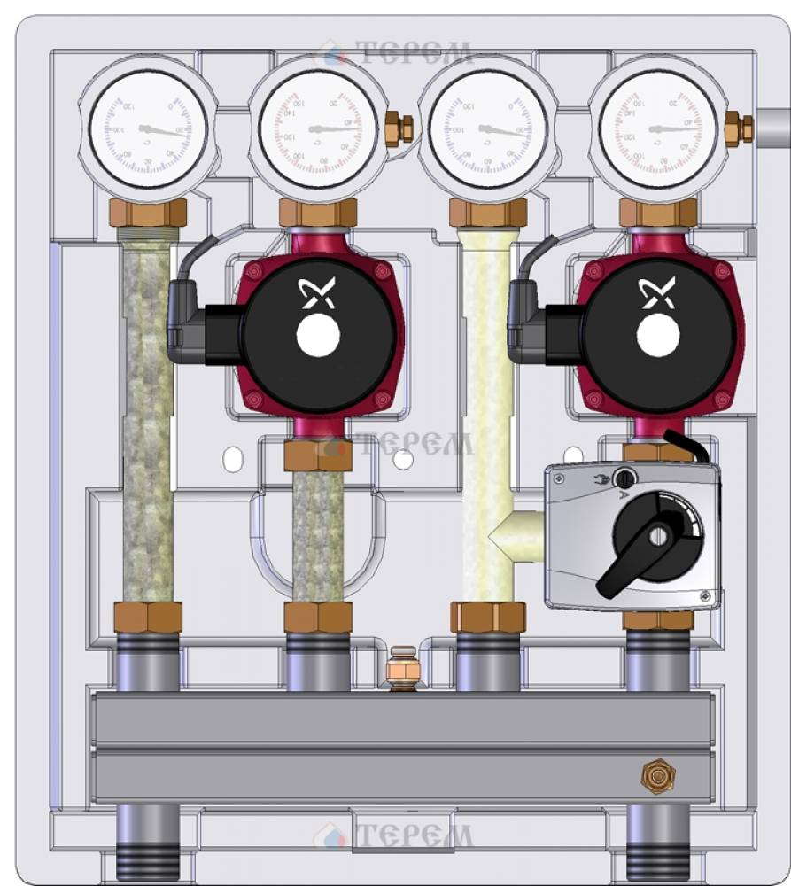 Насосно-смесительный модуль Kombimix 2 MKST/STM_UPSO 15-65