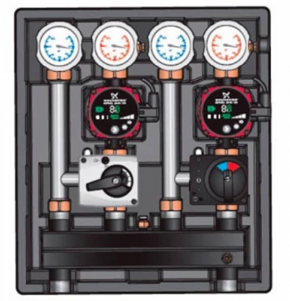 Насосно-смесительный модуль Kombimix 2 MKST/STM_UPM3 Hybrid 15-70*