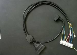 Проводка электрическая низковольтная (От разъема платы Х5 к модулятору, клеммной колодке, датчику NTC ГВС, реле минимального давления и датчику протока ГВС)