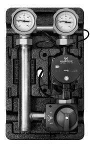 Насосная группа MK смесительная с электронным термостатом и реле с насосом Grundfos UPM3 Hybrid 25-70*