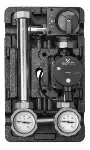 Насосная группа MK смесительная с электронным термостатом 20-80° с насосом Grundfos UPM3 Hybrid 25-70*