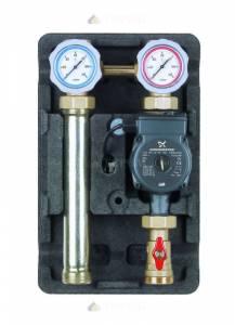 Насосная группа UK с раздельным теплообменником и бронзовым насосом с насосом бронзовым Grundfos UPS 25-60, т/о 30 пл.