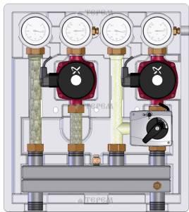 Насосно-смесительный модуль Kombimix UK_MKST_UPSO 15-65