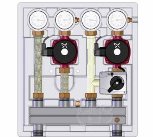 Насосно-смесительный модуль Kombimix UK_MKST_UPM3 Hybrid 15-70*