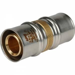 Муфта соединительная равнопроходная 26х26 для металлопластиковых труб прессовой