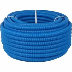 Труба гофрированная ПНД, наружным диаметром 20 мм синяя (для труб до Ø18мм)