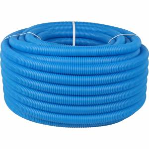 Труба гофрированная ПНД, наружным диаметром 32 мм синяя (для труб до Ø27мм)